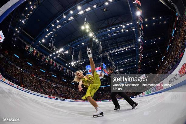 Piper Gilles and Paul Poirier of Canada compete in the Ice Dance Free Dance during day four of the World Figure Skating Championships at Mediolanum...