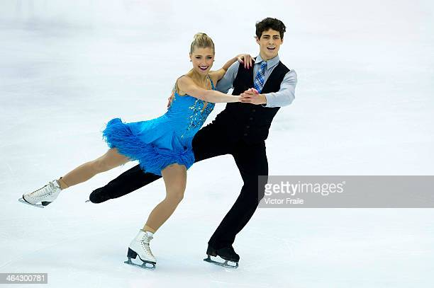 Piper Gilles and Paul Poirier of Canada compete in the Ice Dance Short Dance event during the Four Continents Figure Skating Championships on January...