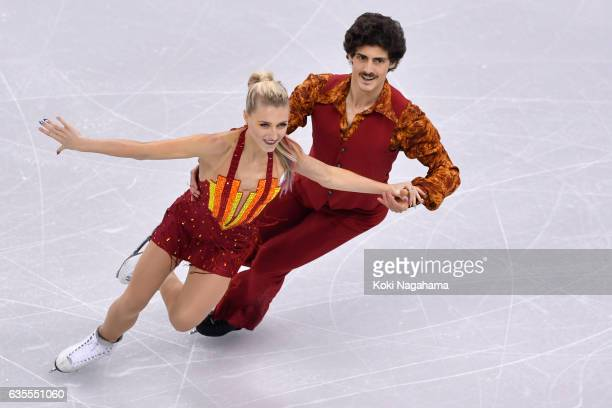 Piper Gilles and Paul Poirier of Canada compete in the Ice Dance Short Dance during ISU Four Continents Figure Skating Championships - Gangneung...