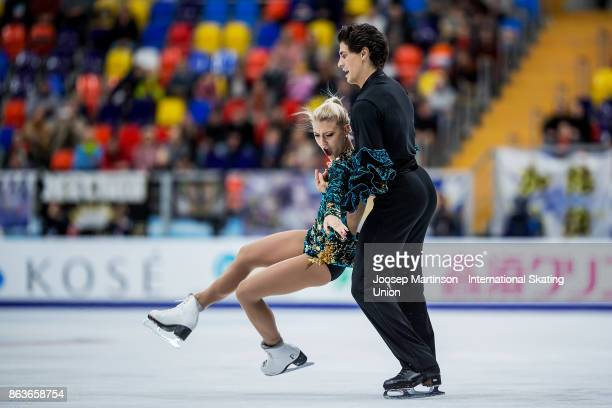 Piper Gilles and Paul Poirier of Canada compete in the Ice Dance Short Dance during day one of the ISU Grand Prix of Figure Skating, Rostelecom Cup...