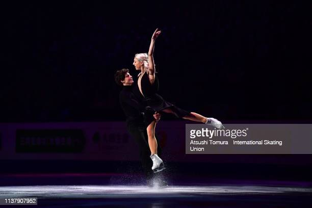 Piper Gilles and Paul Poirier of Canada perform during the exhibition gala on day five of the 2019 ISU World Figure Skating Championships at Saitama...