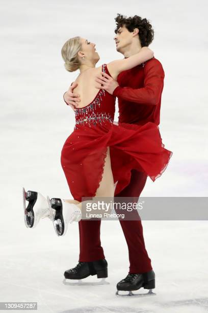Piper Gilles and Paul Poirier of Canada perform in Ice Dance Free Dance during day four of the ISU World Figure Skating Championships at Ericsson...