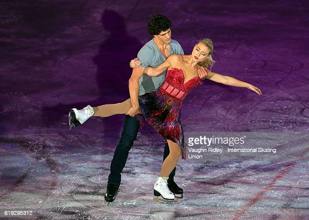 Piper Gilles and Paul Poirier of Canada perform in the Exhibition Gala during the ISU Grand Prix of Figure Skating Skate Canada International at...