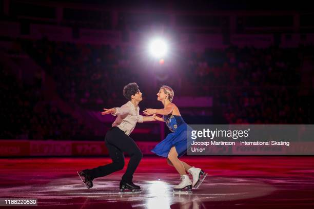 Piper Gilles and Paul Poirier of Canada perform in the gala exhibition during day 3 of the ISU Grand Prix of Figure Skating Rostelecom Cup at on...