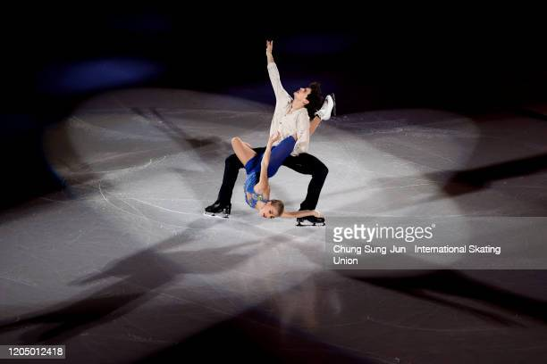 Piper Gilles and Paul Poirier of Canada perform in the Gala Exhibition during the ISU Four Continents Figure Skating Championships at Mokdong Ice...