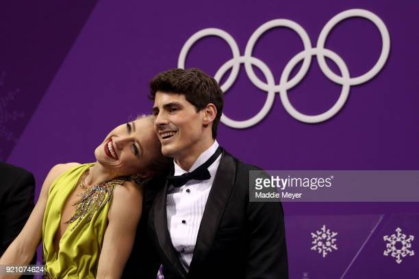 Piper Gilles and Paul Poirier of Canada react after competing in the Figure Skating Ice Dance Free Dance on day eleven of the PyeongChang 2018 Winter...