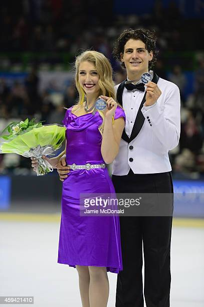 Piper Gilles and Paul Poirier of Canada win Silver during their Ice Dance Free Dance during day two of Trophee Eric Bompard ISU Grand Prix of Figure...