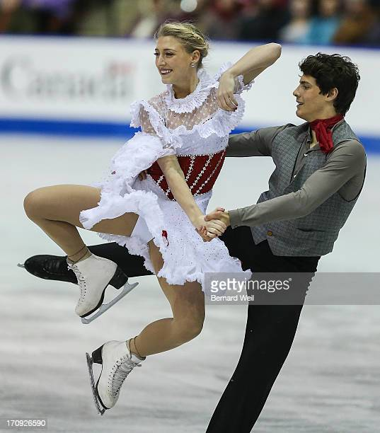 Piper Gilles and Paul Poirier of Central Ontario perform in the Senior Ice Dance Short Program at the National Figure Skating Championships Hershey...