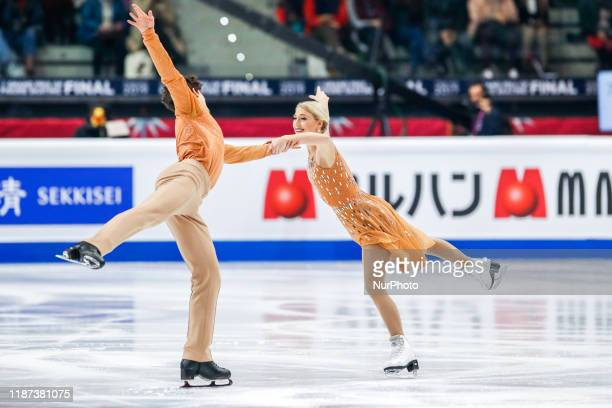 Piper GILLES / Paul POIRIER in action during the Ice Dance free Program of the ISU Figure Skating Grand Prix final at Palavela on December 7 2019 in...