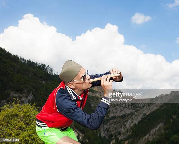 piper in der natur - oboe stock-fotos und bilder
