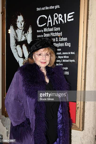 Piper Laurie attends the first preview of the reworked musical Carrie at the Lucille Lortel Theatre on January 31 2012 in New York City