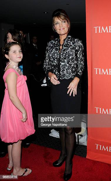 Piper Palin and Sarah Palin attend the 2010 TIME 100 Gala at the Time Warner Center on May 4 2010 in New York City