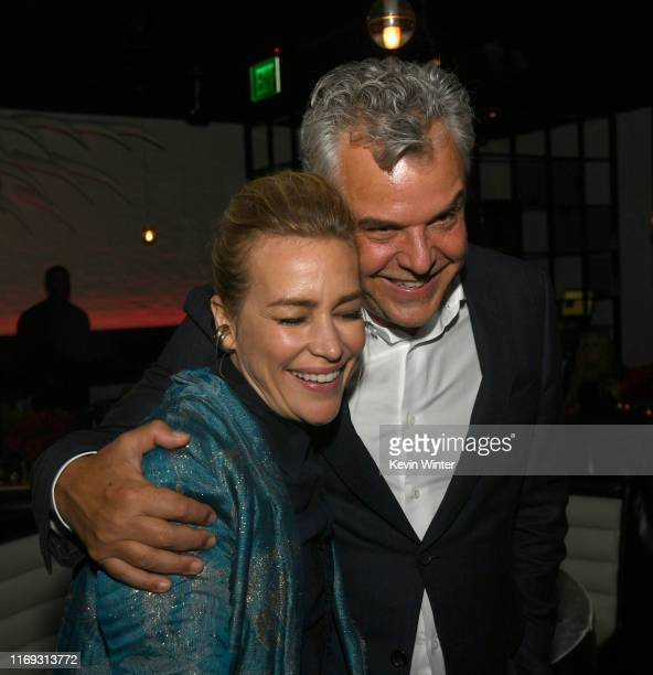 Piper Perabo and Danny Huston pose at the after party for the premiere of Lionsgate's Angel Has Fallen at STK on August 20 2019 in Westwood California