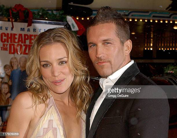 Piper Perabo and Duncan Quinn during Cheaper by the Dozen 2 Los Angeles Premiere Arrivals at Mann Village Theatre in Westwood California United States
