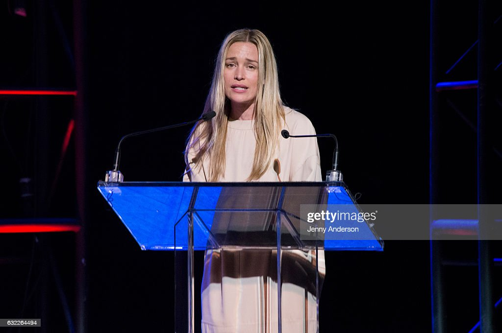 Piper Perabo attends Concert For America: Stand Up, Sing Out! at Town Hall on January 20, 2017 in New York City.