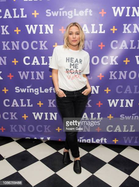 Piper Perabo attends Swing Left's 'The Last Weekend' Election Rally at Cooper Union on November 1 2018 in New York City