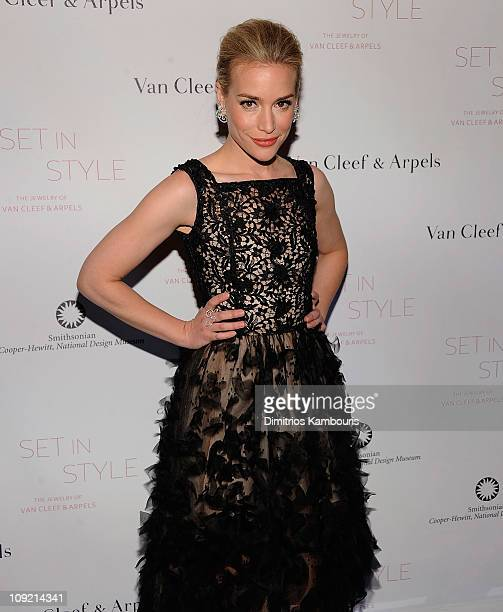 """Piper Perabo attends the """"Set in Style: The Jewelry of Van Cleef & Arpels"""" opening gala at Cooper-Hewitt, National Design Museum on February 16, 2011..."""