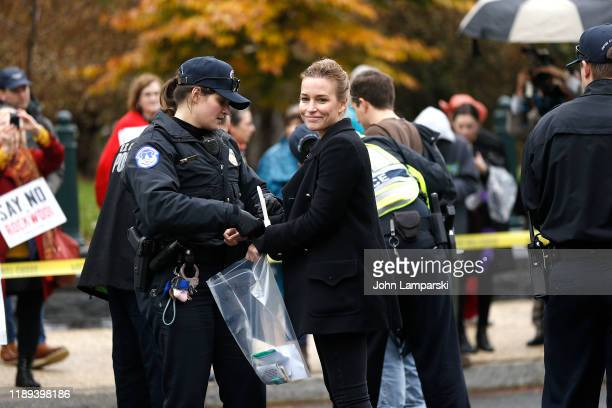 Piper Perabo demonstrates near the US Capitol during Fire Drill Friday climate change protest on November 22 2019 in Washington DC Protesters are...