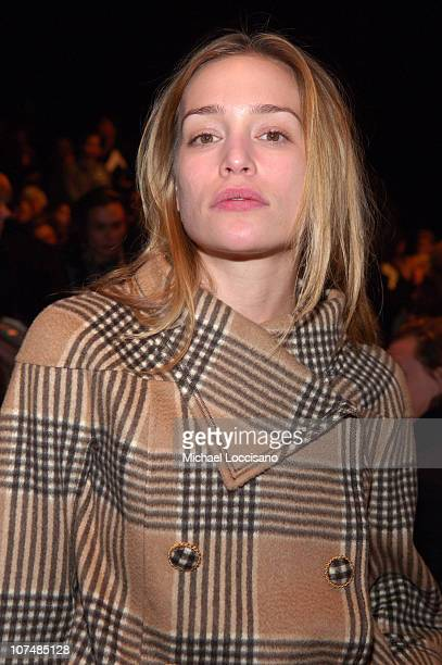 Piper Perabo during MercedesBenz Fashion Week Fall 2007 Oscar de la Renta Front Row and Backstage at The Tent in New York City New York United States
