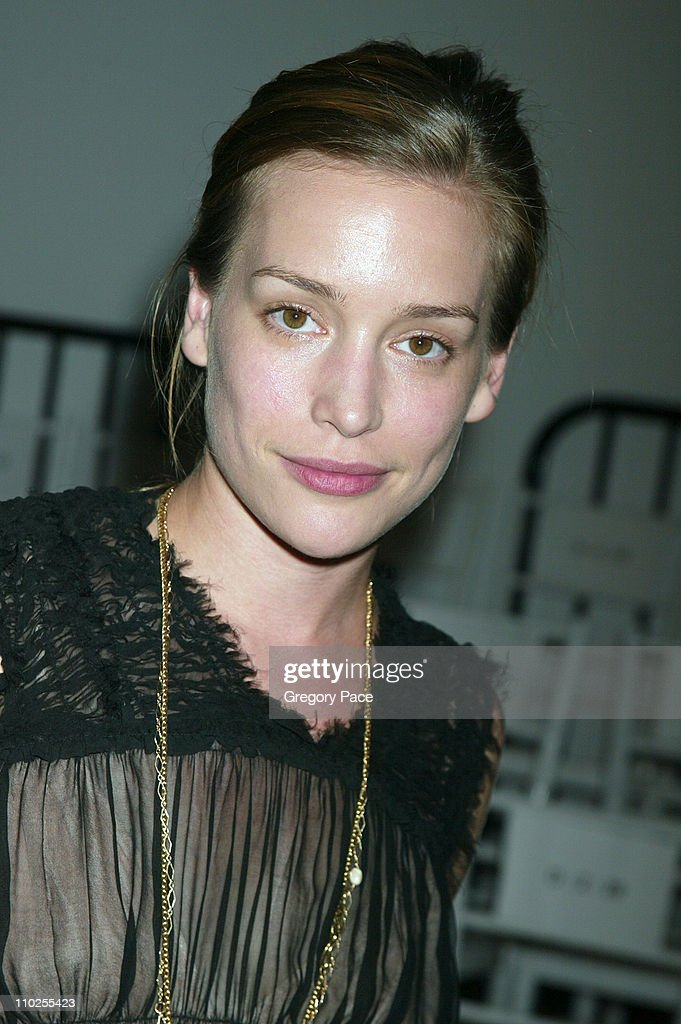 Piper Perabo during Olympus Fashion Week Spring 2006 - Roland Mouret - Sponsored by Motorola - Front Row and Backstage at Skylight Studios in New York City, New York, United States.