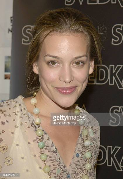 Piper Perabo during Svedka Celebrates the Launch of Their New Ad Campaign at Peter White Studio in New York City New York United States