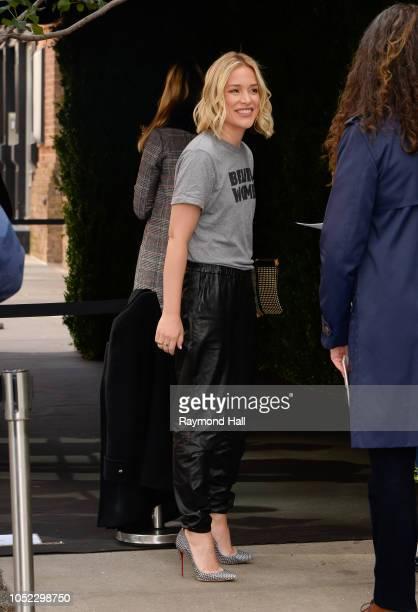 Piper Perabo is seen walking in soho on October 16 2018 in New York City