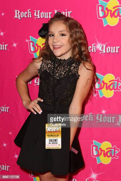 Piper Rockelle at Rock Your Hair Presents Rock Back to School concert and party on September 30 2017 in Los Angeles California
