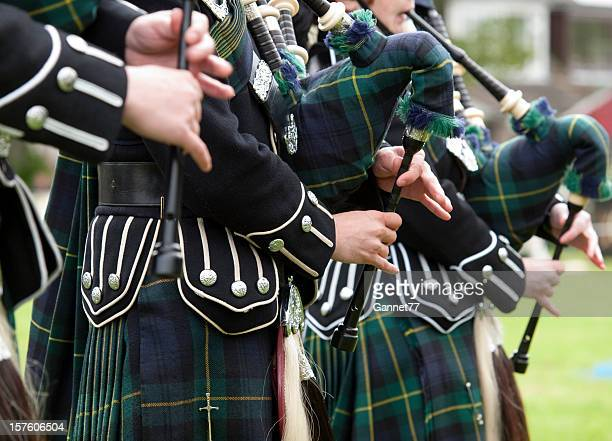 Pipers playing in a Marching Band, Scotland
