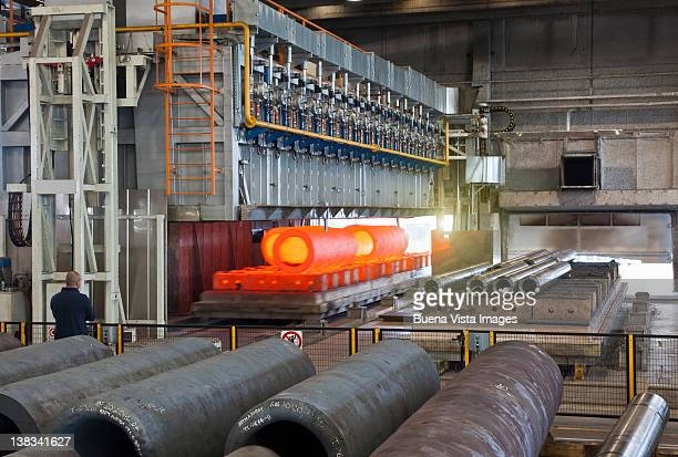Pipes in a steel factory