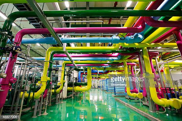 Pipes pass through the chiller plant at the Google Inc data center in Changhua Taiwan on Wednesday Dec 11 2013 Google owner of the worlds mostpopular...