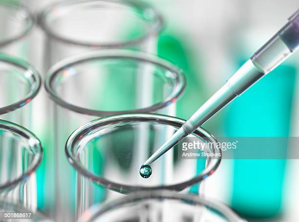 pipette dripping liquid into test tube - differential focus stock pictures, royalty-free photos & images