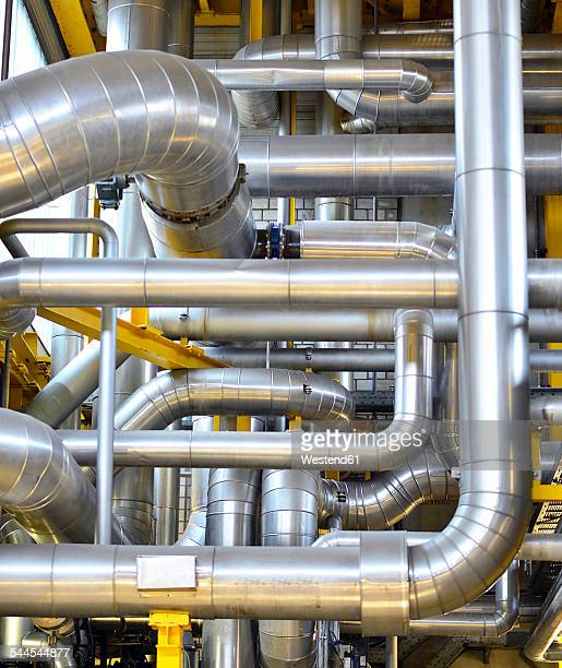 Pipework in a factory