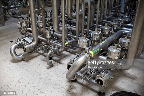Pipework system of a process plant for the production of bioethanol