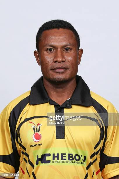 Pipi Raho of Papua New Guinea poses during a Papua New Guinea headshots session at the Realm Hotel on February 14 2017 in Canberra Australia