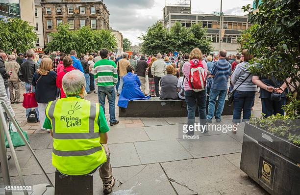 piping live event - theasis stock pictures, royalty-free photos & images