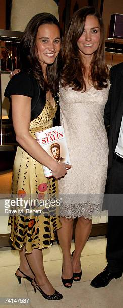 Pippa and Kate Middleton attend the book launch party of The Young Stalin The Adventurous Early Life Of The Dictator 18781917 by Simon Sebag...
