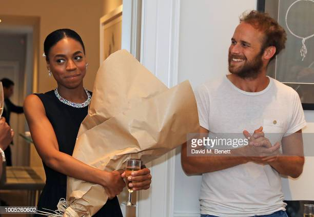 Pippa BennettWarner and Ben Lambert attend a sparkling affair at Boodles in celebration of Pippa BennettWarner's 30th birthday and the recent success...