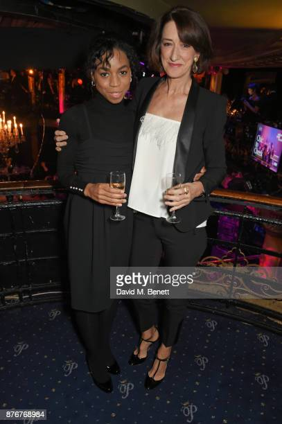 Pippa BennettWarner and Haydn Gwynne attend Chic To Cheek The National Youth Theatre Gala at Cafe de Paris on November 20 2017 in London England