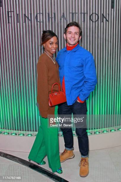 Pippa BennettWarner and Jonathan Bailey attend Finchatton's Twenty Grosvenor Square grand opening on October 09 2019 in London England