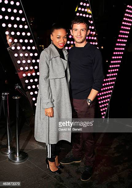 Pippa BennettWarner and Jonathan Bailey attend the launch of W Beijing Chang'an at Wyld on February 19 2015 in London England