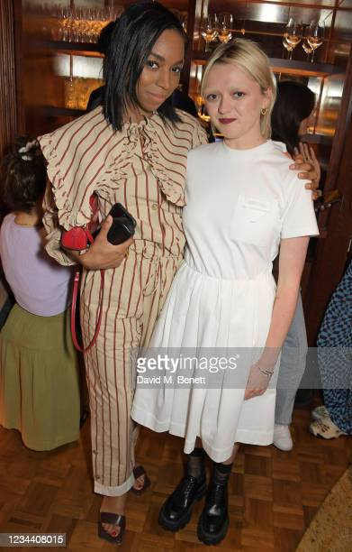 Pippa Bennett-Warner and Maisie Williams attend a private dinner hosted by Maisie Williams at Gymkhana London to celebrate the launch of new company...