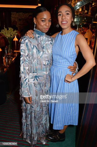 Pippa BennettWarner and Pearl Mackie attend the European launch of WOMAN by Ralph Lauren hosted by Jessica Chastain at Isabel on September 14 2018 in...