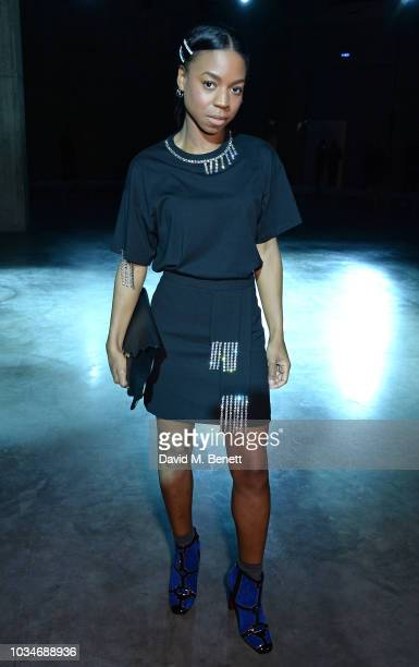 Pippa BennettWarner attends the Christopher Kane front row during London Fashion Week September 2018 at the Tate Modern on September 17 2018 in...