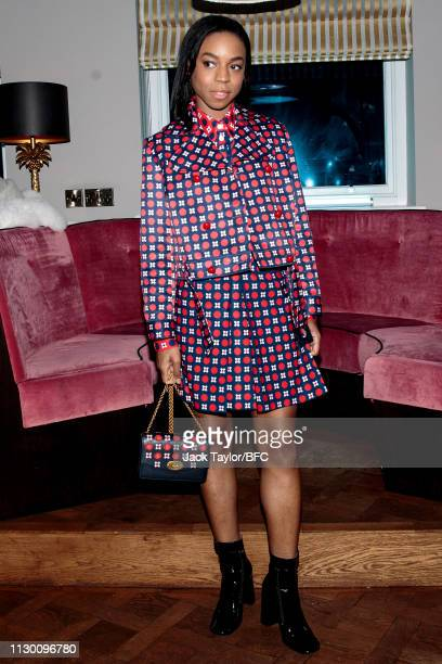 Pippa BennettWarner attends the Mulberry Reflections party celebrating London Fashion Week February 2019 and Mulberry's SS collection at Laylow on...