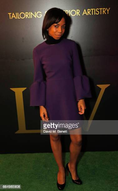 Pippa BennettWarner attends the opening of the new Labassa Woolfe antiques and tailoring boutique store on April 5 2017 in London England