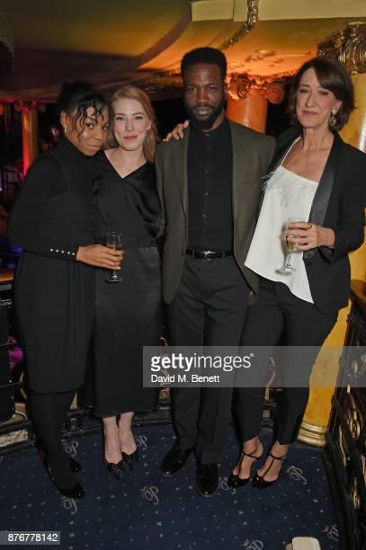 Pippa BennettWarner Hannah Morrish Sope Dirisu and Haydn Gwynne attend Chic To Cheek The National Youth Theatre Gala at Cafe de Paris on November 20...