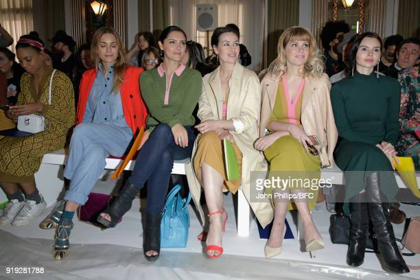 Pippa BennettWarner Yasmin Le Bon Annabel Scholey Maimie McCoy Hannah Arterton and Eline Powell attend the Jasper Conran show during London Fashion...