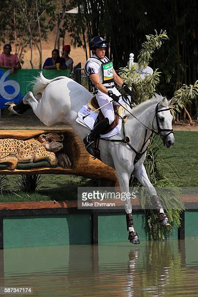 Pippa Funnell of Great Britain riding Billy The Biz competes during the Cross Country Eventing on Day 3 of the Rio 2016 Olympic Games at the Olympic...