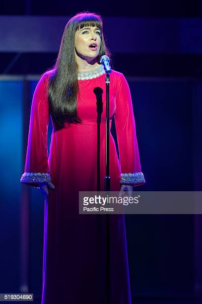 THEATRE SYDNEY NSW AUSTRALIA Pippa Grandison as Judith Durham sings 'Carnival is Over' during a media preview of 'Georgy Girl the Seekers Musical'...