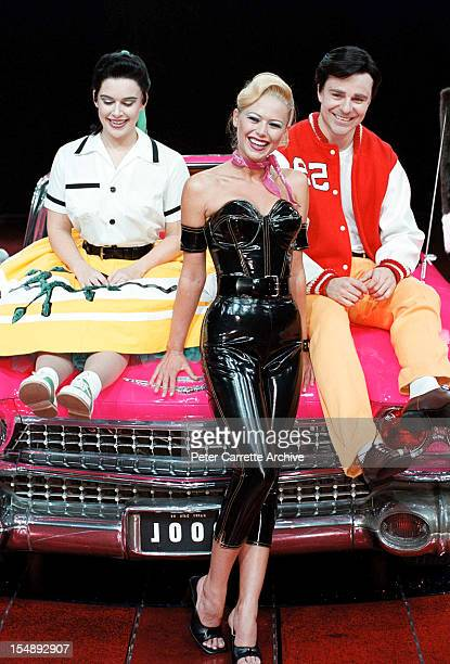 Pippa Grandison Jo Beth Taylor and Matt Hetherington during rehearsals for the stage production of 'Happy Days The Arena Mega Musical' at the Sydney...